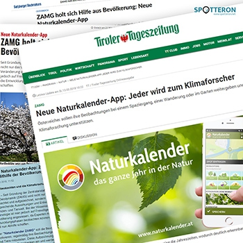 Citizen Science-App Naturkalender in den Medien